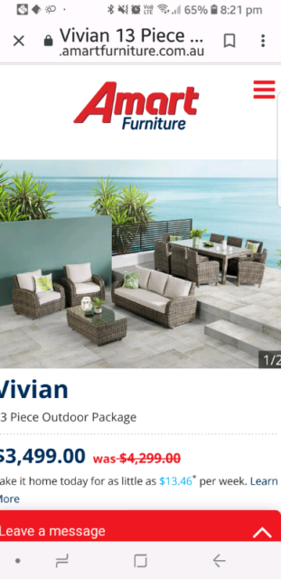 13 Piece Outdoor Dining Set Sydney Ideas