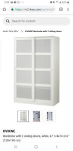Ikea KVIKNE wardrobe for sale
