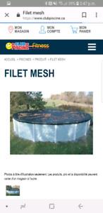 NEUF! Toile FILET MESH pour piscine hors-terre 18'