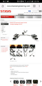 2011 Audi s5 cabriolet convertible cat back exhaust system