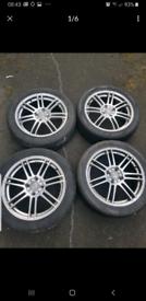 Full set of League 17inch alloys - quick sale - grab a bargain !