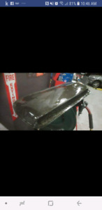 Gc8 carbon fiber hood scoop impreza and jdm wrx badge
