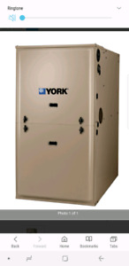 York 100000btu single stage gas furnace 96.6% efficiency LP