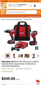 Brand new M18 Milwaukee hammer drill an driver impact combo kit
