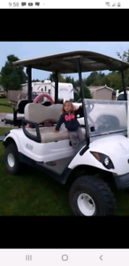 2010 lifted Yamaha golf cart