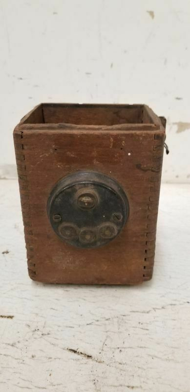 1909-13 Ford model T  Wooden Coil Box / Switch Box With Brass Mounts