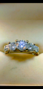 2-1/4 carat diamond engagement ring