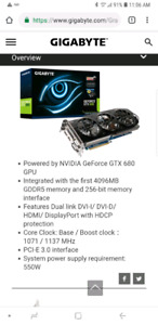 Nvidea Gigabyte GTX 680 Windforce Edition 4GB