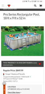 Pro Series rectangle frame swimming pool
