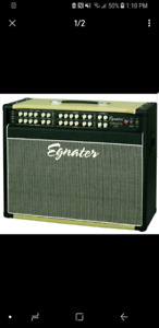Egnater Tourmaster 2x12 combo amp and footswitch
