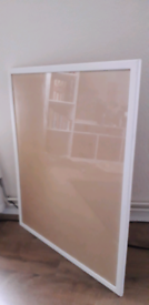 Large picture frame with glass