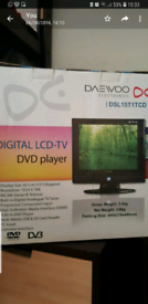DAEWOO TV with built in DVD with wall mount bracket for sale  Notting Hill, London