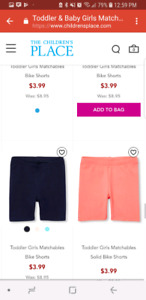 Looking for toddler girl size 2 and 3 shorts