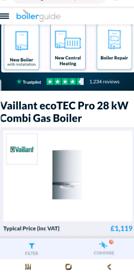 Vaillant ecoTEC Pro 28 kW Combi Gas Boiler 5 YEARS WARRANTY