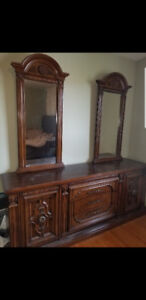 Vintage Dresser with 2 mirrors and Armoire