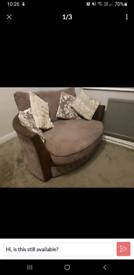 Cuddle Sofa Round Swivel Chair