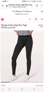 Lululemon Hi Rise Leggings