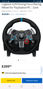 Best racing wheel for PC or playstation 4     mint condition