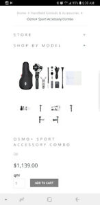 DJI Osmo+ with sport pack accessories plus light and hard case