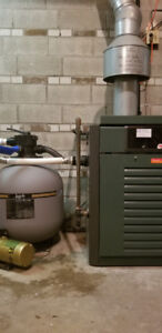 Gas Pool Heater and Sand Filter