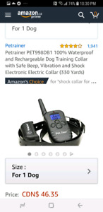 Dog remote color (e- color) brand new
