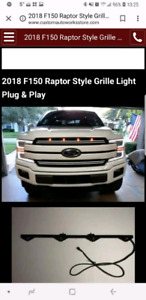 2018 F150 Raptor Style Grille LED lights