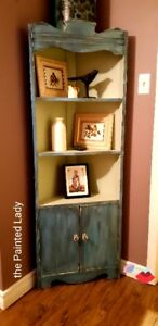 Chalk Painted Corner Cupboard