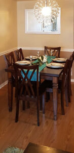 Dining table and 6 chairs only