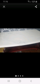 Marble effect coffee table