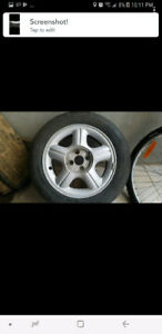185/60/15 michelin tire été summer + 15 inches honda mags wheels