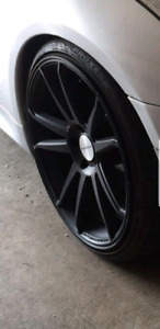 """20"""" CONCAVO CW-S5 MATTE BLACK WITH TIRES"""
