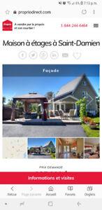 Maison à vendre ou à louer - St-Damien