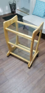 beautiful trolly with glass shelves! BRAND NEW!!