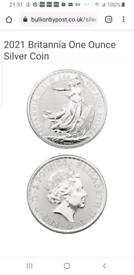 Free 1 oz 2021 .999 silver Britannia coin