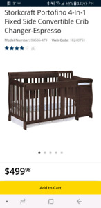 Storckcraft 4 in 1 convertible crib $300 obo