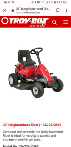 Troy built Ride on mower lawn tractor 30""