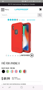 NEW LIFEPROOF FRĒ FOR iPHONE X CASE- red