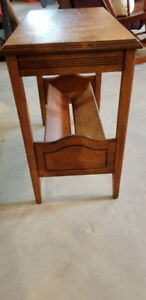 Solid Wood End Table Magazine Stand