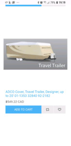 Adco rv cover 16-20 ft $150 firm