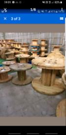 Wooden cable drums reels spools bobbins