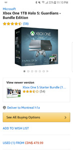 Xbox one  special edition  halo5 + extra manette + FiFa 2016
