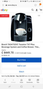 Bosch T47 tassimo coffee machine $500 value