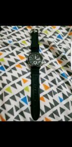 Black And Silver Fossil Watch for $40