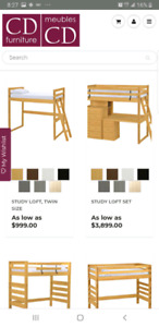 Loft bed solid wood from crates design.