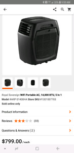 Wifi portable air conditioner 14,000 BTU