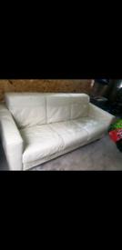 3 and 2 seater Italian leather sofa