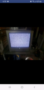 Flat screen crt tv
