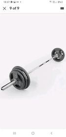 135 KG Olympic cast iron Tri Grip weights set With 6 ft Olympic Bar