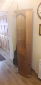 Corner cupboard solid pine