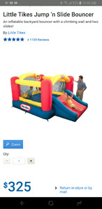 Little tikes jump and slide bouncer trampoline